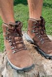 Sapatas Trekking Fotografia de Stock