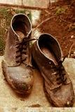 Sapatas velhas. Fotografia de Stock