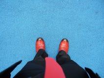 Sapatas vermelhas Fotos de Stock Royalty Free