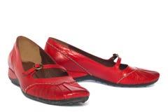 Sapatas vermelhas Fotografia de Stock