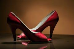 Sapatas vermelhas Fotos de Stock