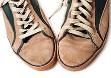 sapatilhas Bege-verdes da parte superior Foto de Stock Royalty Free