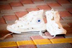 Sapatilhas brancas Foto de Stock