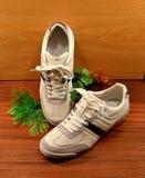 Sapatilhas brancas Imagem de Stock Royalty Free