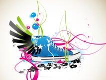 Sapatilhas, ginástica-sapatas Ilustração do Vetor