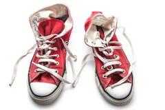 Sapatilhas retros vermelhas Foto de Stock Royalty Free