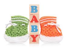 Sapatinho de lã pequeno bonito Imagens de Stock Royalty Free
