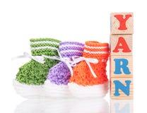 Sapatinho de lã pequeno bonito Imagens de Stock