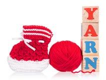 Sapatinho de lã pequeno brilhante Imagem de Stock Royalty Free