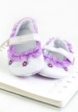 Sapatinhos de lã de Babys Imagens de Stock Royalty Free
