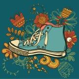Sapatos de ginástica do teste padrão Fotografia de Stock