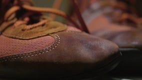 Sapatos de ginástica vermelhos Sapatilhas retros vermelhas Pares de sapatilhas para a vida quotidiana Imagens de Stock Royalty Free