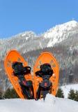 Sapatos de neve modernos na montanha Fotos de Stock Royalty Free