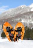 Sapatos de neve modernos na montanha Fotografia de Stock