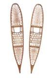 Sapatos de neve tradicionais isolados no branco imagens de stock