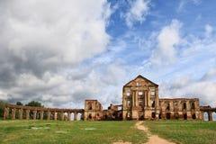 Sapega宫殿废墟在白俄罗斯 图库摄影