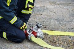 sapeur-pompier Photo stock