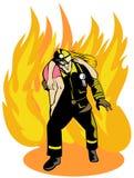 Sapeur-pompier Images libres de droits