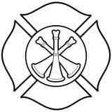 Sapeur-pompier Bugle Badge Illustration illustration stock