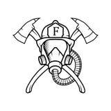 Sapeur-pompier d'illustration de vecteur Sapeur-pompier Logo illustration stock