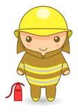 Sapeur-pompier de bande dessinée illustration de vecteur
