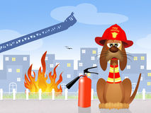 Sapeur-pompier de chien illustration de vecteur