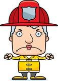 Sapeur-pompier fâché Woman de bande dessinée illustration de vecteur
