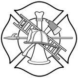 Sapeur-pompier Honor Badge Illustration illustration libre de droits