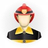 Sapeur-pompier humain de calibre illustration libre de droits