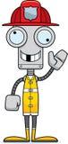 Sapeur-pompier idiot Robot de bande dessinée illustration de vecteur
