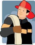 Sapeur-pompier mâle Photographie stock