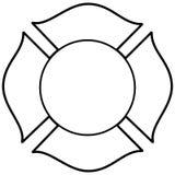 Sapeur-pompier Maltese Cross Illustration illustration stock