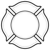 Sapeur-pompier noir et blanc Logo illustration stock