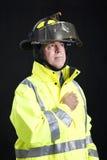 Sapeur-pompier respectueux photos libres de droits