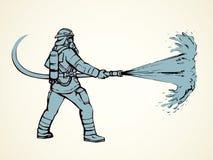 sapeur-pompier Retrait de vecteur illustration libre de droits