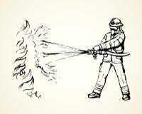 sapeur-pompier Retrait de vecteur illustration stock