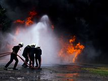 Sapeur-pompier superbe photographie stock libre de droits