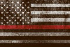 Sapeur-pompier texturisé âgé Support Flag Background illustration libre de droits