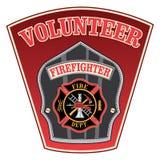 Sapeur-pompier volontaire Shield illustration de vecteur