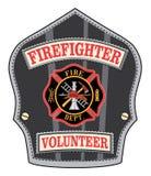 Sapeur-pompier Volunteer Badge Photographie stock libre de droits