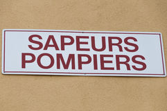 Sapeurs救火梯在法国 库存图片
