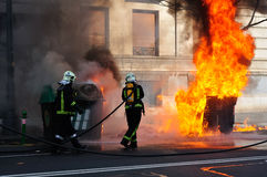 Sapeurs-pompiers Photo stock