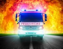 Sapeurs-pompiers allemands photo libre de droits