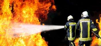 Sapeurs-pompiers allemands photo stock
