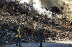Sapeurs-pompiers brésiliens photo libre de droits