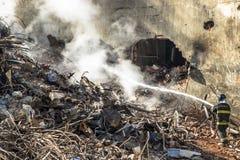 Sapeurs-pompiers brésiliens images libres de droits