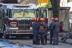Sapeurs-pompiers brésiliens photographie stock