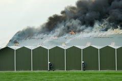 sapeurs-pompiers d'action Photographie stock libre de droits