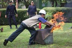Sapeurs-pompiers d'instructeurs Photo libre de droits