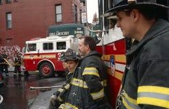 Sapeurs-pompiers de FDNY en service, New York City, Etats-Unis image libre de droits